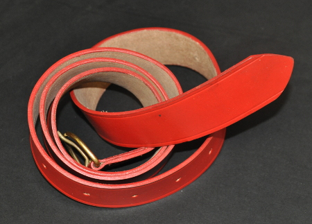 Long Leather Belt without Brass End [Red]