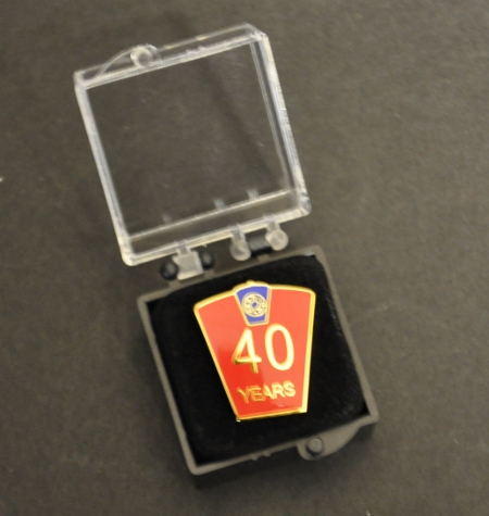 Mark 40 year Lapel Pin
