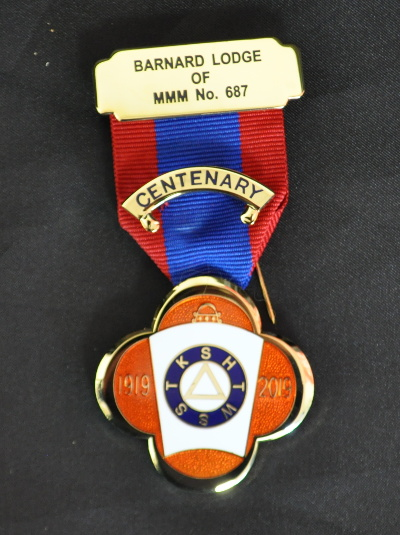Mark Lodge Centenary Breast Jewel (25-29 items)