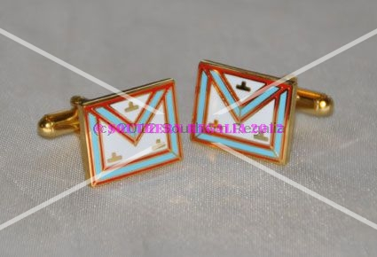 Mark Worshipful Masters Gold Plated Apron Cufflinks