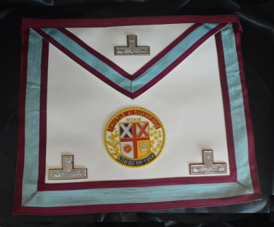 Mark Worshipful Masters Apron - Leather with Coloured Motif