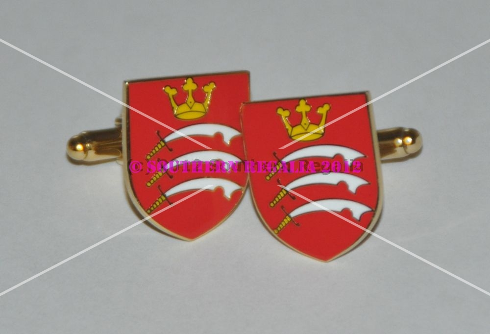 Middlesex Flag Gold Plated Enamel Cufflinks