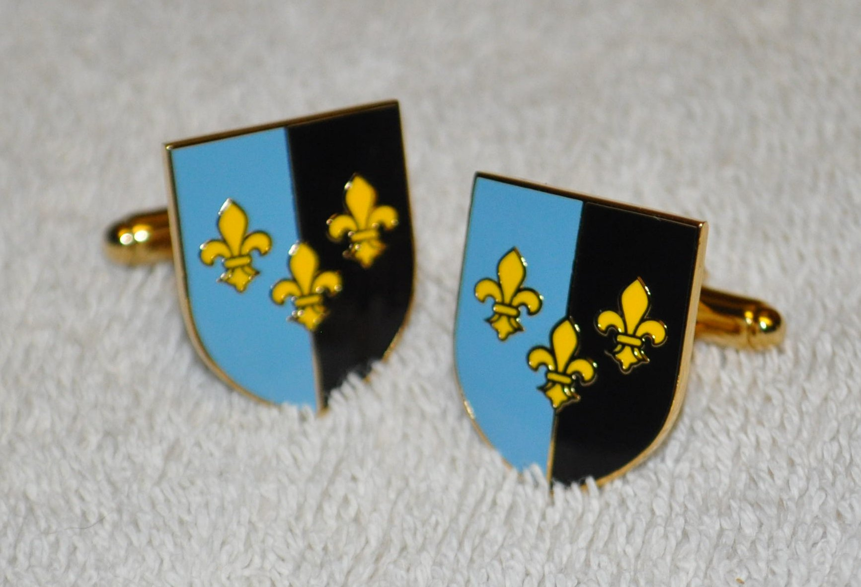 Monmouthshire Flag Gold Plated Enamel Cufflinks