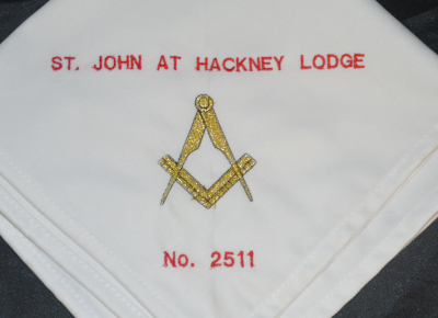 Embroidered Napkin with Lodge Name & Number