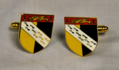 Norfolk Flag Gold Plated Enamel Cufflinks