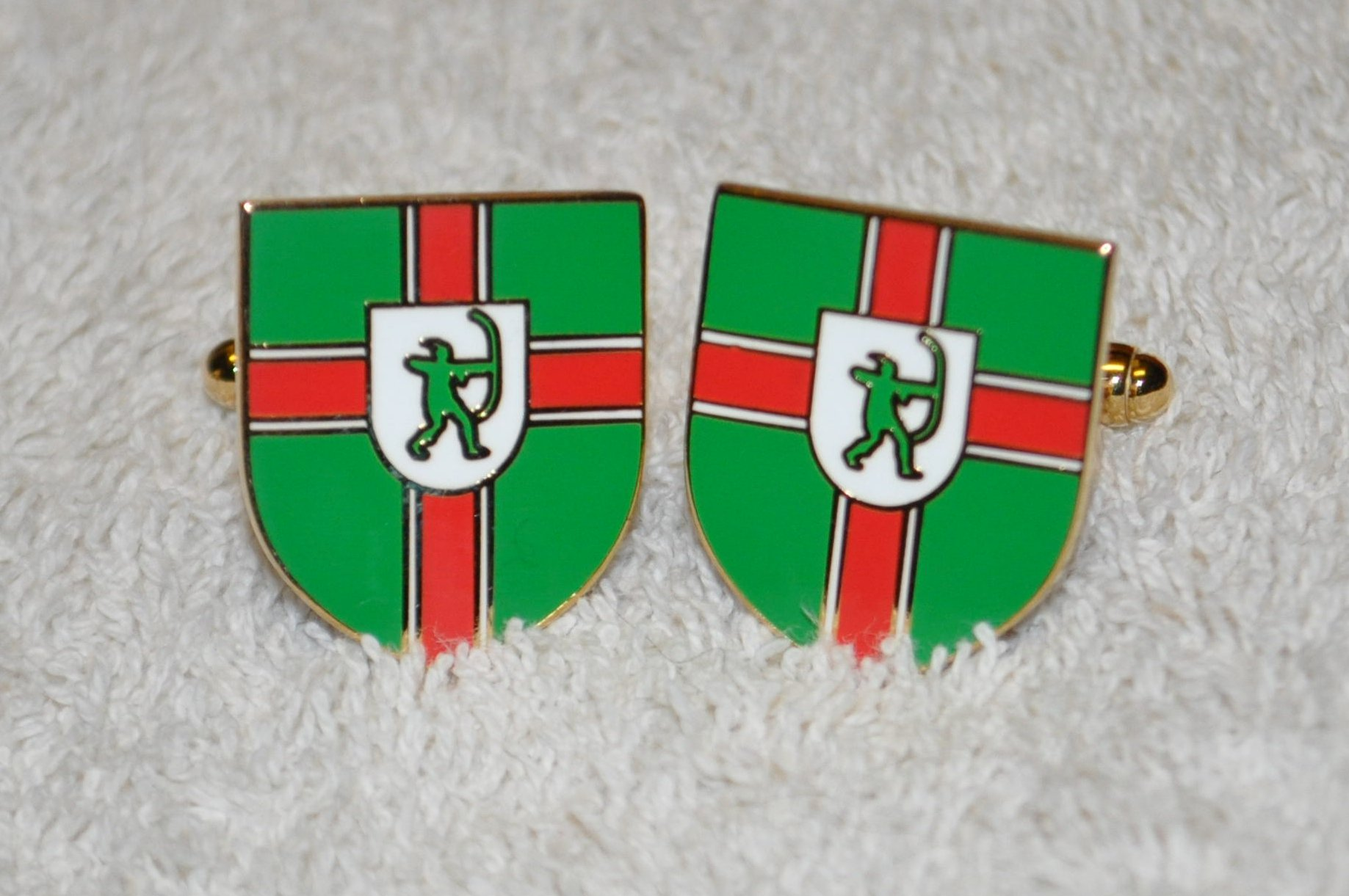 Nottinghamshire Flag Gold Plated Enamel Cufflinks
