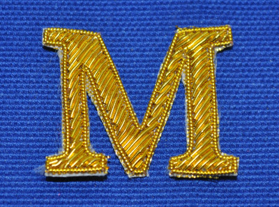 Embroidered Letter - 'M'