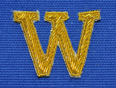 Embroidered Letter - 'W'