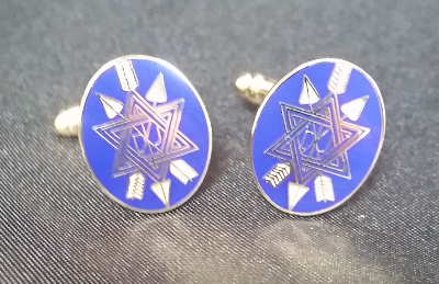 OSM Blue Enamel & Gilt Cufflinks