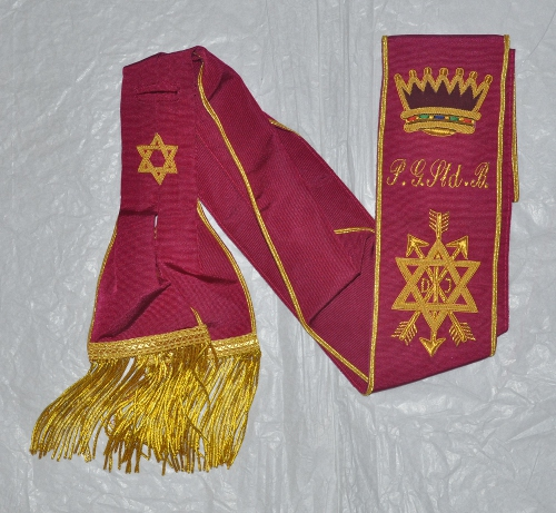 OSM Grand Officers Sash - Hand Embroidered