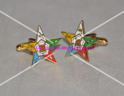 Order of the Eastern Star Gold Plated Cufflinks