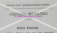 Oxford Working - Passing Question Card