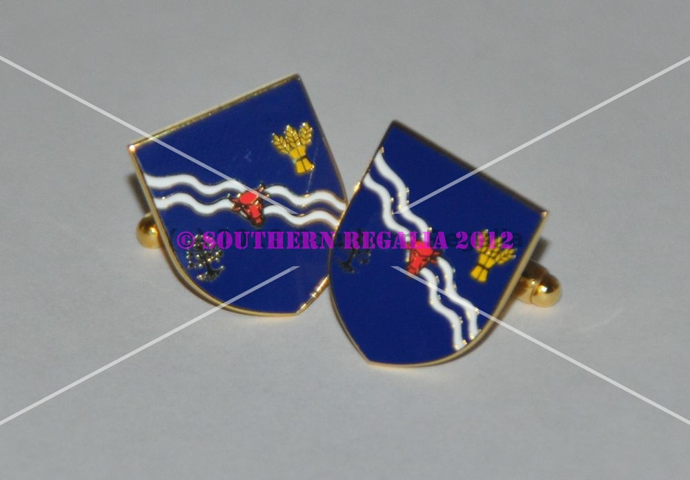 Oxfordshire Flag Gold Plated Enamel Cufflinks
