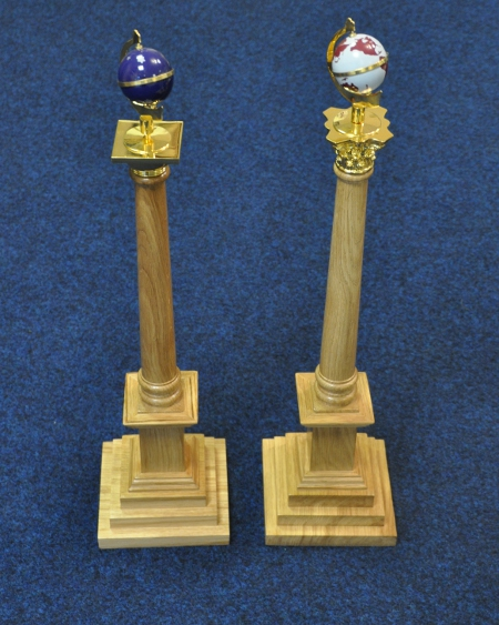 Craft Wardens Columns with Globes [pair]