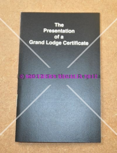 Craft Presentation of Grand Lodge Certificate