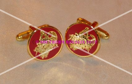 Provincial District or Grand Stewards Gold Plated Cufflinks