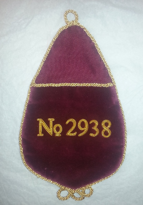 Royal Arch Alms Bag with Embroidered Number