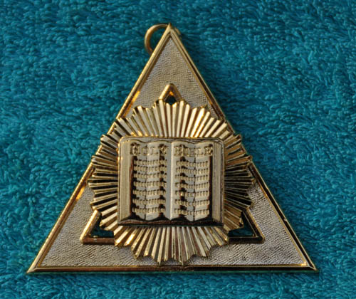 Royal Arch Chapter Officers Collar Jewel - 3rd Principal - J