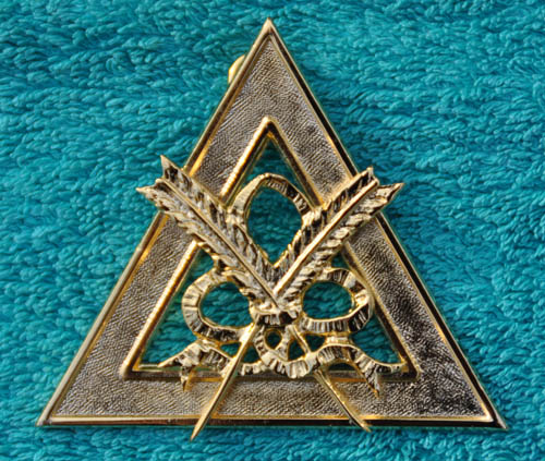 Royal Arch Chapter Officers Collar Jewel - Scribe (E or N)