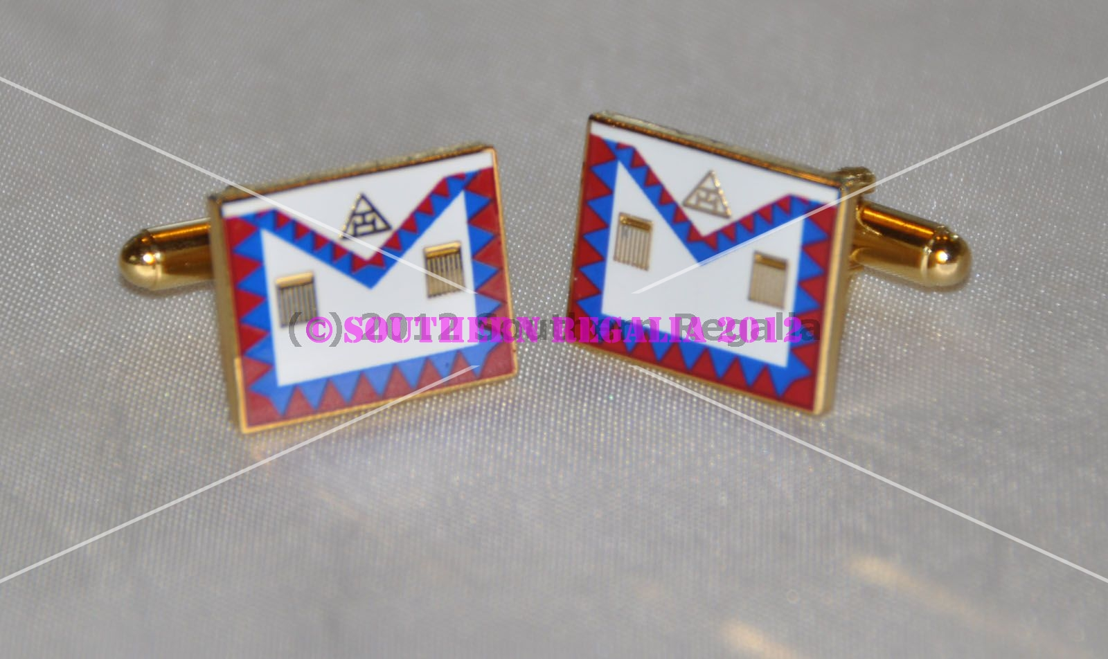 Royal Arch Companions Apron Gold Plated Cufflinks