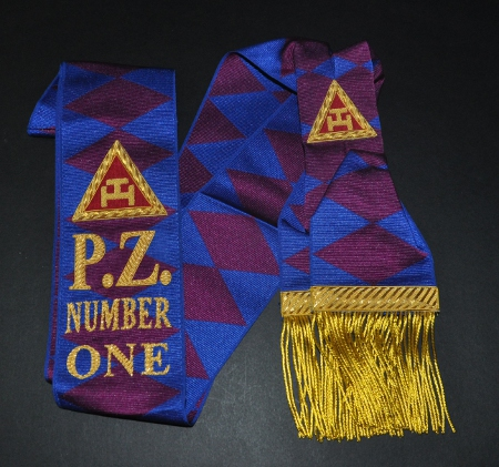 Royal Arch Past Z (PZ) Sash with Embroidered Number - Scottish