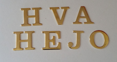 Royal Arch Gold Letters (set of 7)