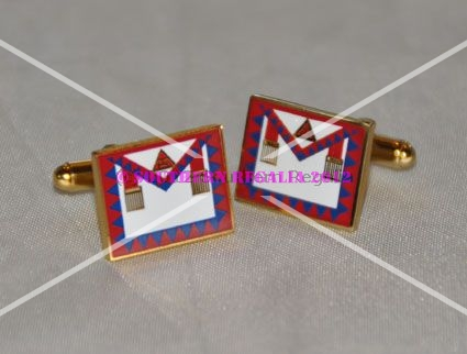 Royal Arch Principals Apron Gold Plated Cufflinks