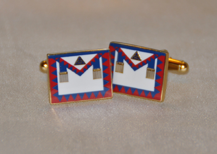 Royal Arch Provincial Apron Gold Plated Cufflinks