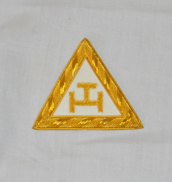 Royal Arch Triple Tau Embroidered Companions Sash Badge