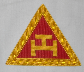 Royal Arch Triple Tau Embroidered Principals Apron Badge