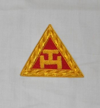 Royal Arch Triple Tau Embroidered Principals Sash Badge