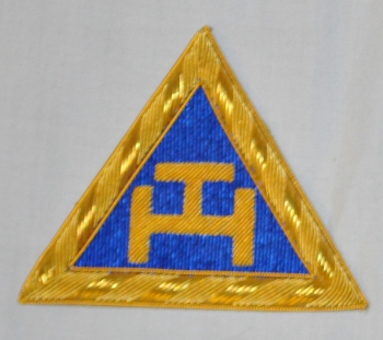 Royal Arch Triple Tau Embroidered Provincial Apron Badge