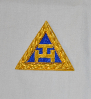 Royal Arch Triple Tau Embroidered Provincial Sash Badge