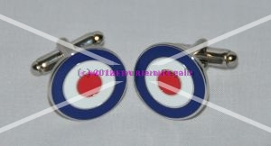 Royal Air Force RAF Silver Plated Enamel Cufflinks