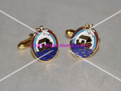 Royal Ark Mariner Gold Plated & Enamel Cufflinks