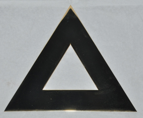 Royal Ark Mariner 6'' Brass Triangle