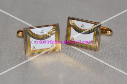 Royal Ark Mariner WCN Apron Gold Plated & Enamel Cufflinks