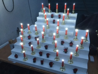 Rose Croix Altar Block with Electric Candles