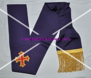 Red Cross of Constantine Companions Sash (with Cross)