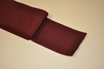 Maroon Ribbon - plain - 100mm (per meter)