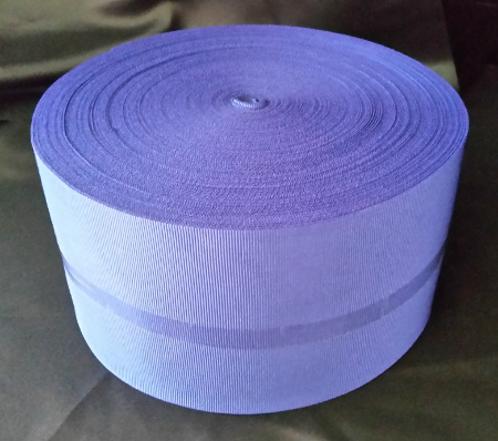 Oxford Blue Ribbon - Plain - 100mm (per meter)
