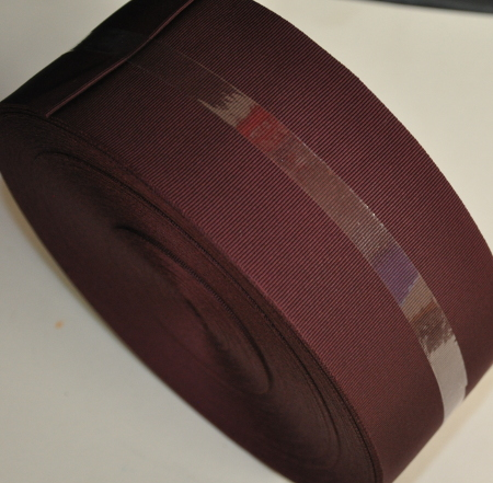 Burgundy Ribbon - plain - 75mm (per meter)
