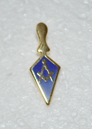 Royal & Select Masters Gold Plated Trowel Lapel Pin