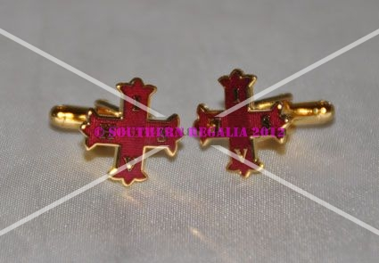 Red Cross of Constantine Gold Plated Cufflinks