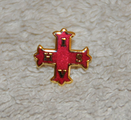 Red Cross of Constantine Gold Plated Lapel Pin