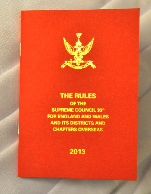 Rose Croix - Rules & Regulations of the Supreme Council