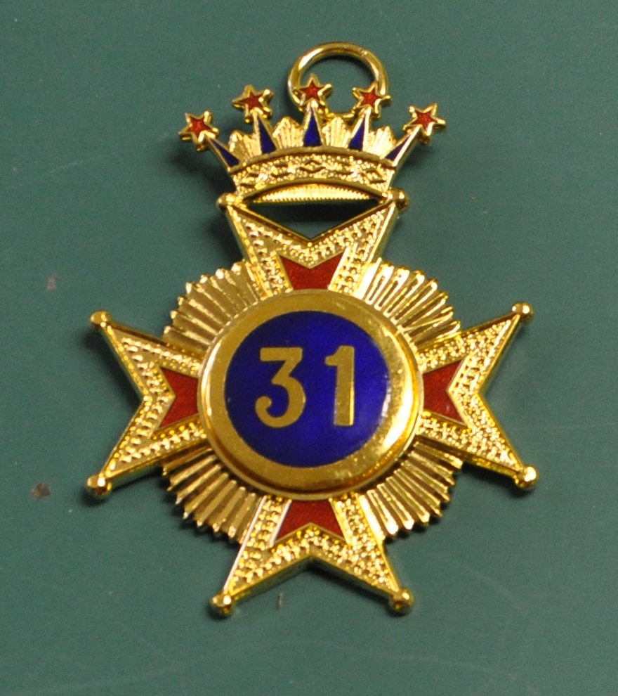 Rose Croix 31st Degree Collar Jewel