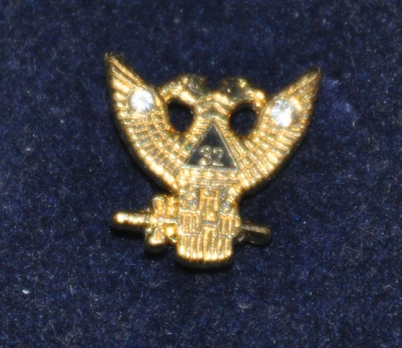 Rose Croix 32nd Degree Gold Plated Lapel Pin