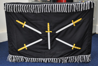 Rose Croix Dark Room Altar Cloth