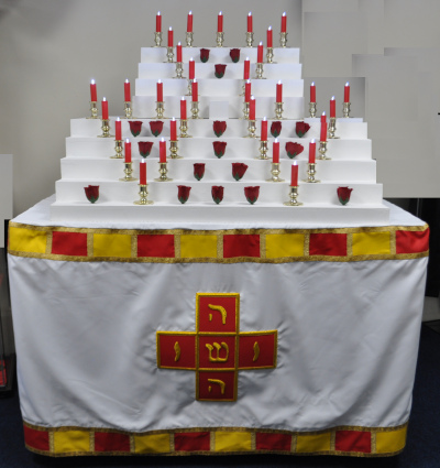Rose Croix Red Room Altar Cloth